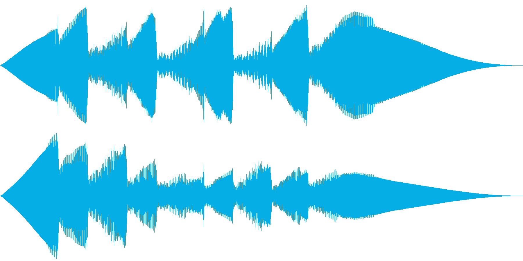 5秒CM用、ほのぼの家族verCの再生済みの波形