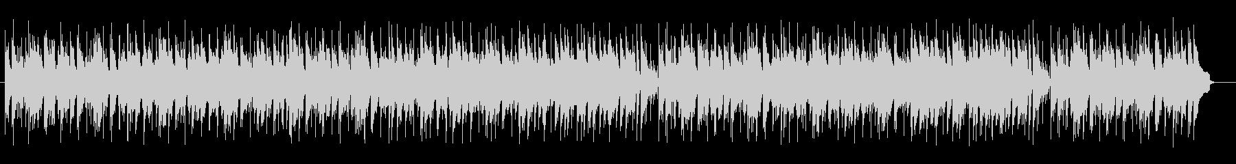 楽しげでおしゃれなシンセサイザーサウンドの未再生の波形