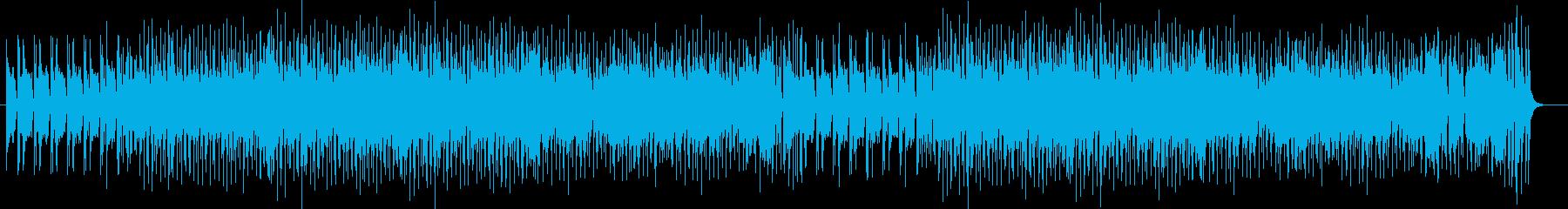カントリー調のレトロで落ち着く曲の再生済みの波形