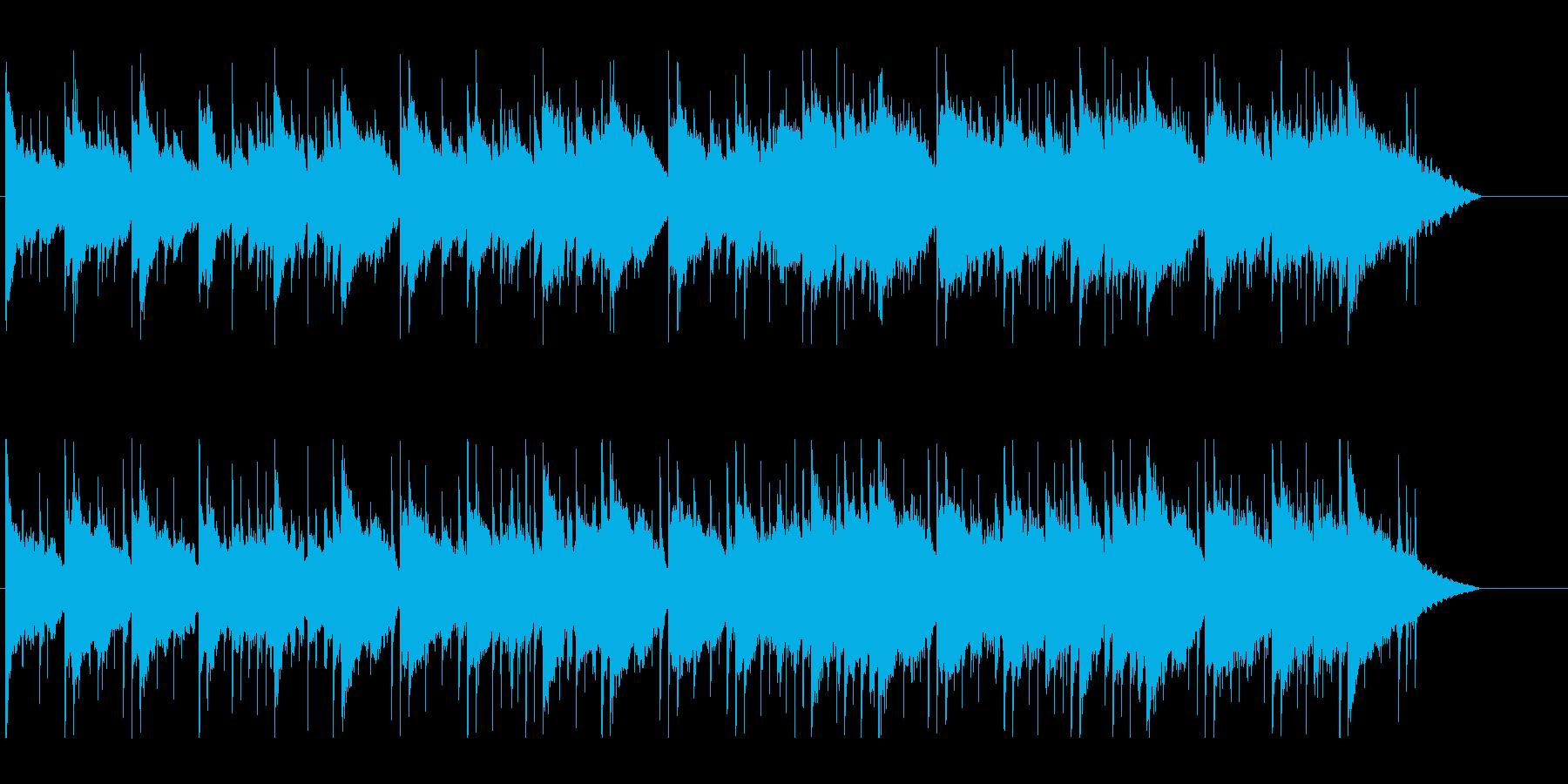 夕暮れに思い出を振り返るBGMの再生済みの波形