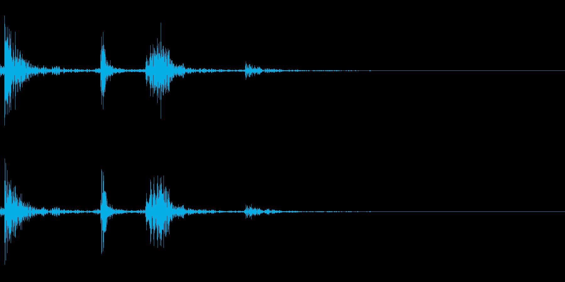 受話器を置く(ガチャッ)の再生済みの波形