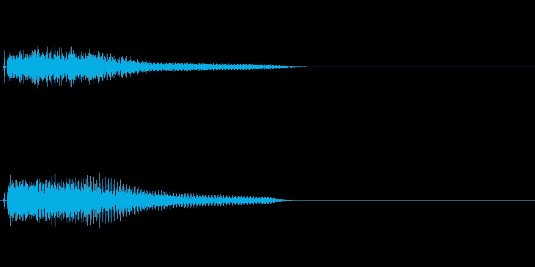 不協な感じのピアノ和音の再生済みの波形