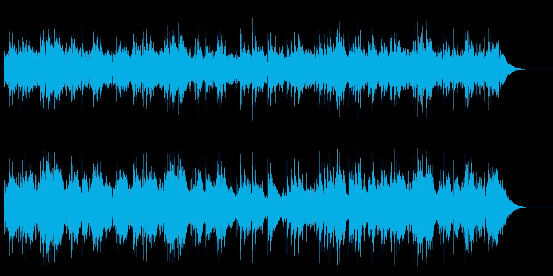シンプルで暖かいアコースティックフォークの再生済みの波形