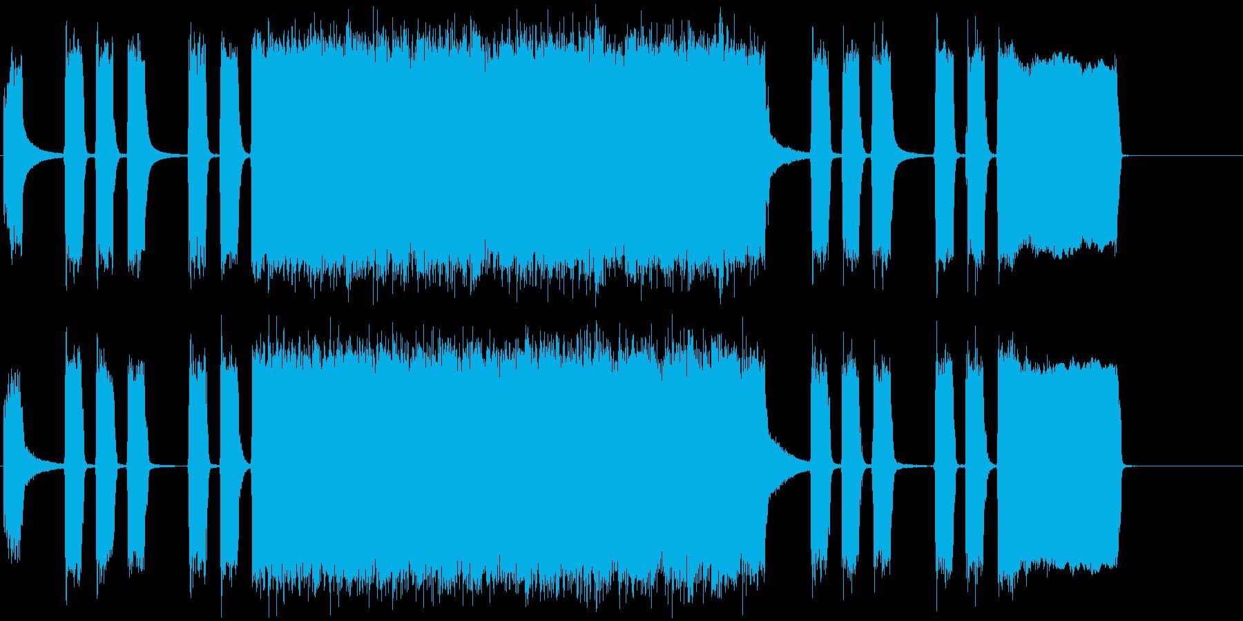 ロック系 ジングル 生演奏の再生済みの波形