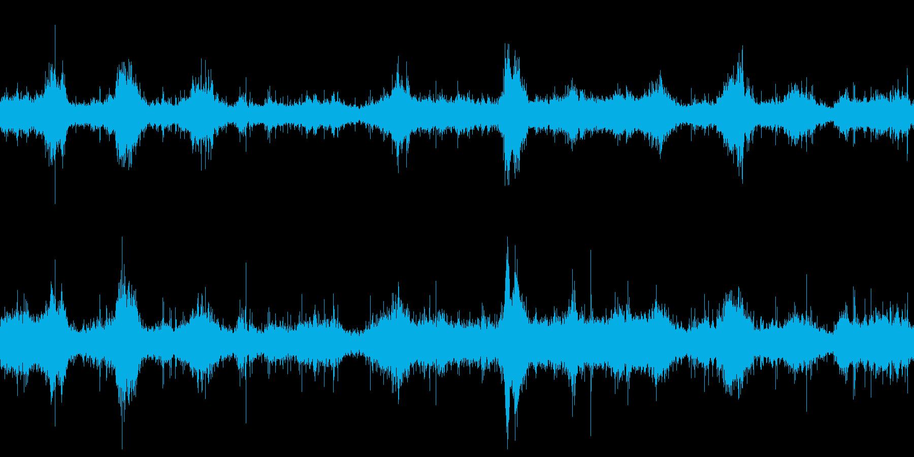 ループ再生用・波音・強く打ち付ける波の再生済みの波形