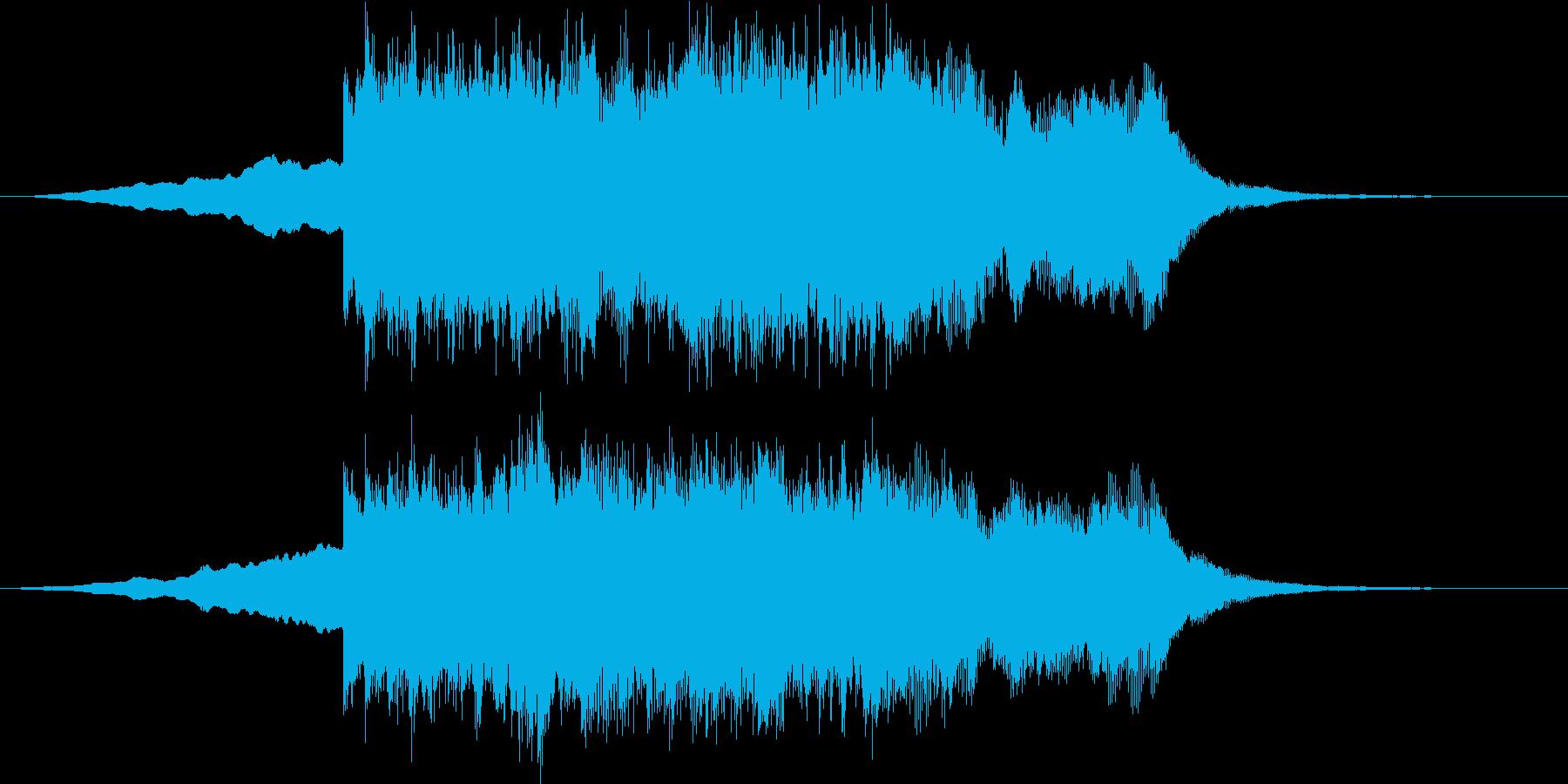 近未来的なシンセサイザーサウンド短めの再生済みの波形