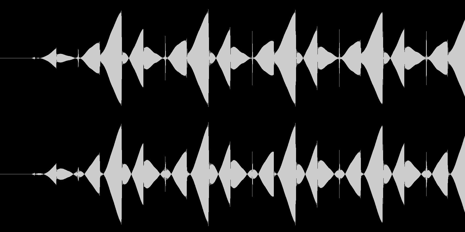 ブッ/ミス/8ビットの未再生の波形