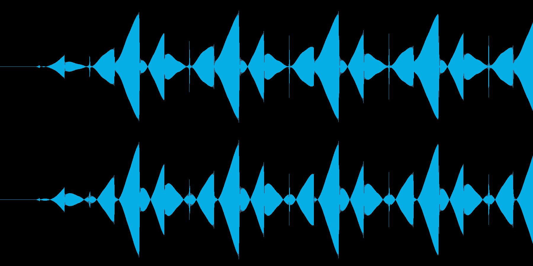 ブッ/ミス/8ビットの再生済みの波形