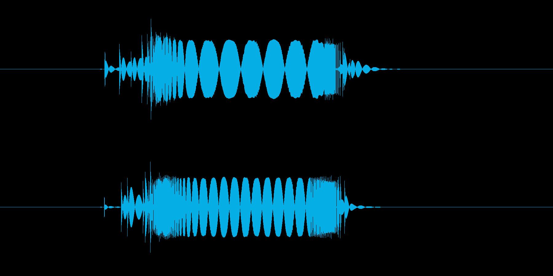 キュイーン(テープ、機械)の再生済みの波形