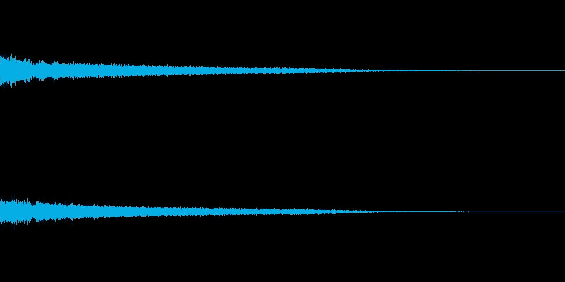 シュー(ワープ音)の再生済みの波形