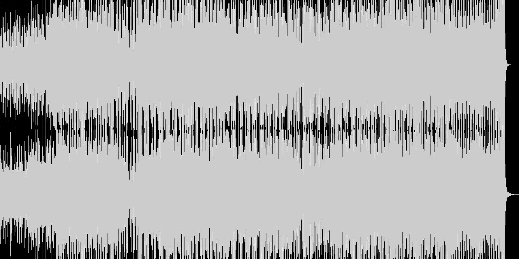 明るく弾けた中に優しい雰囲気のポップス曲の未再生の波形