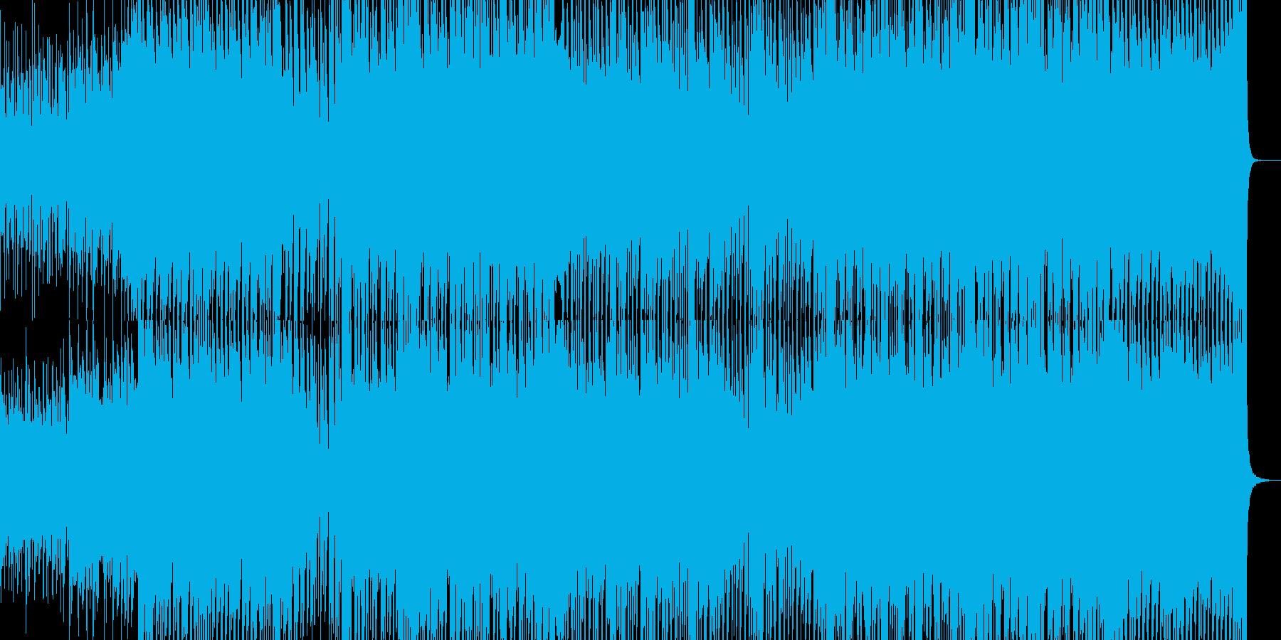 明るく弾けた中に優しい雰囲気のポップス曲の再生済みの波形