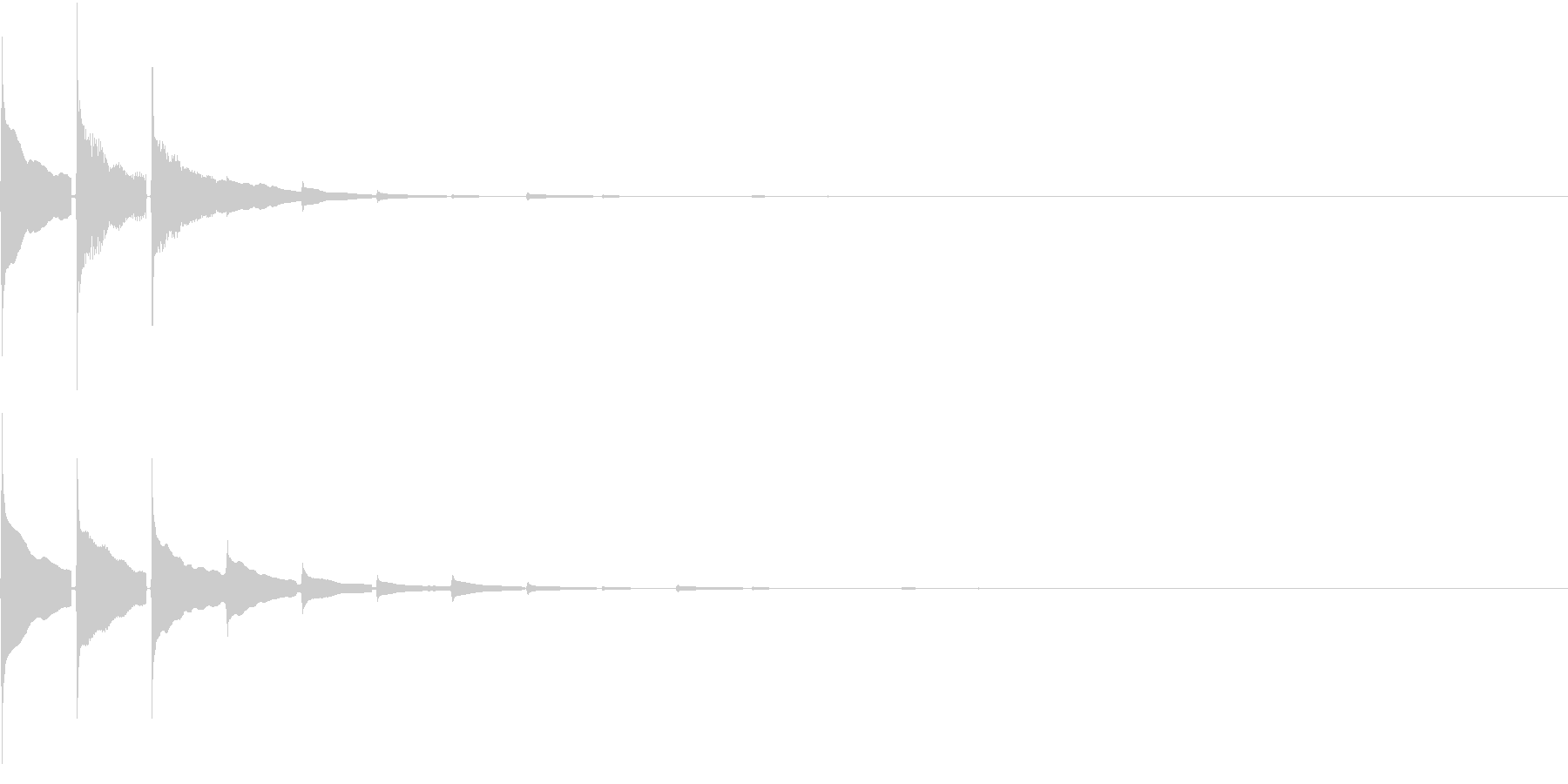 Cash 電子マネー 決済認証・通知SEの未再生の波形