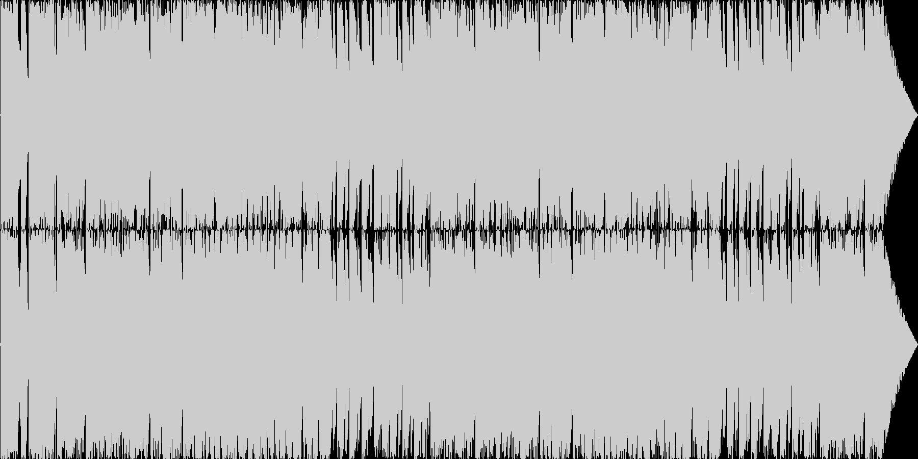 スリリングなチェイスバトル風ビッグバンドの未再生の波形