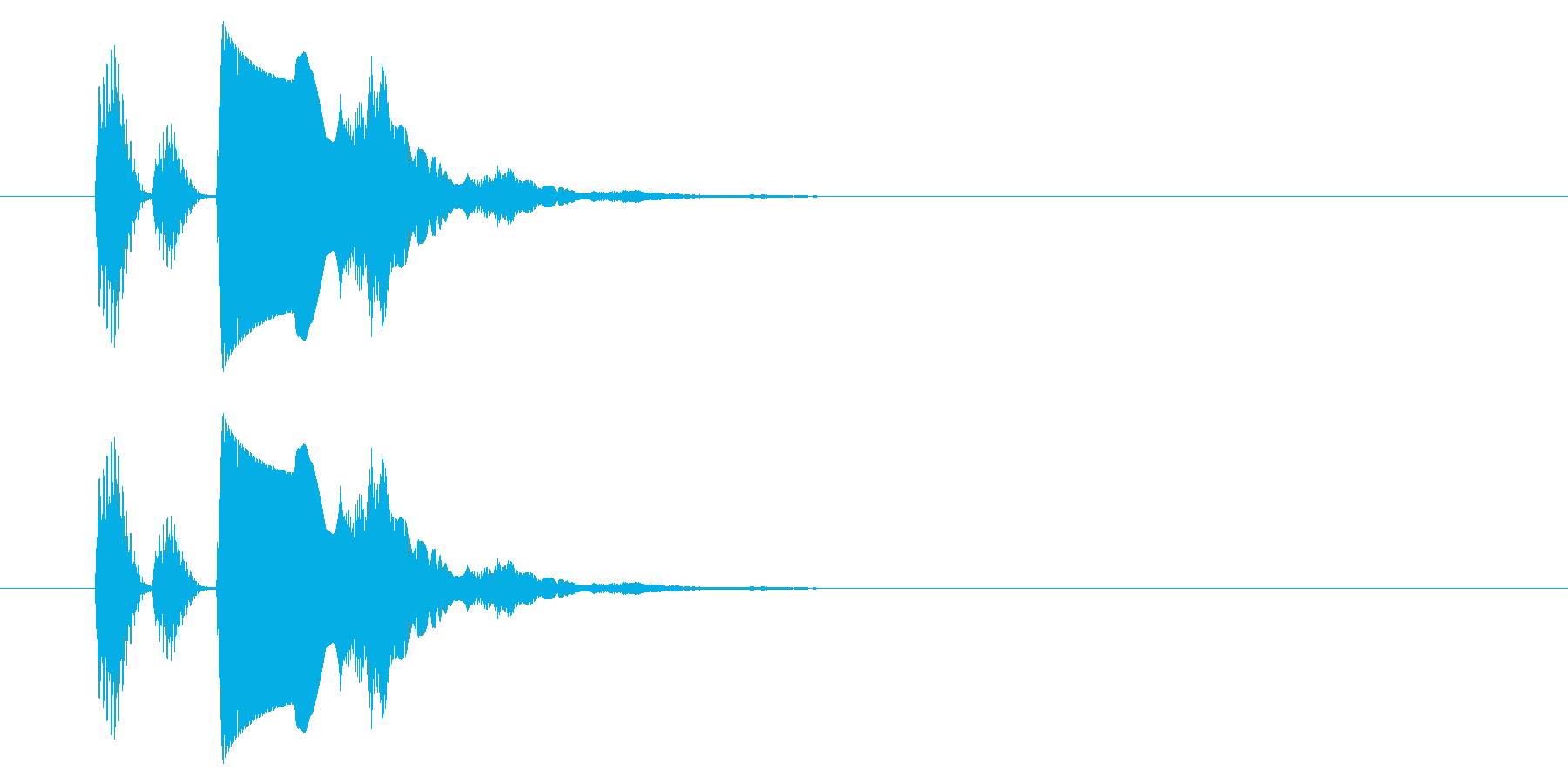 【アクセント42-1】の再生済みの波形