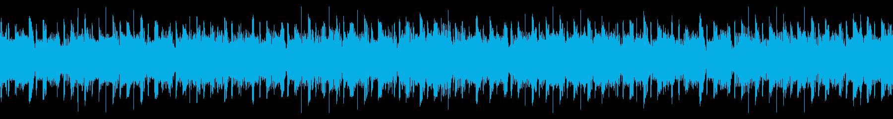 ゆったりしたEDMループの再生済みの波形