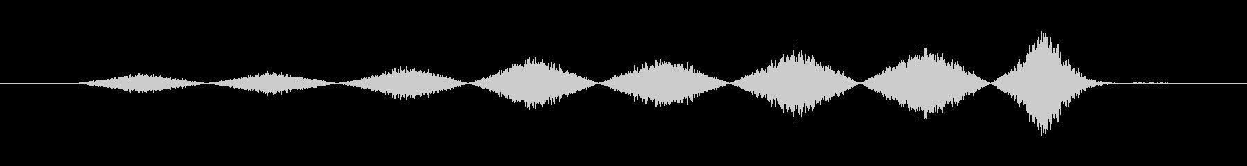 捕まった時の音(ホラー・ゲームオーバー)の未再生の波形