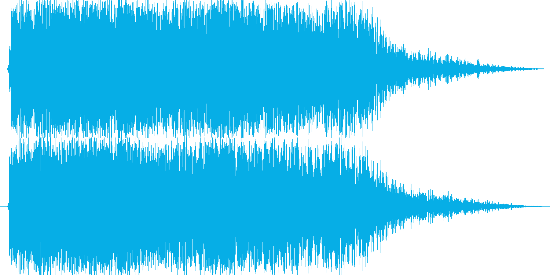 ステータス上昇魔法(理力が集中する)の再生済みの波形