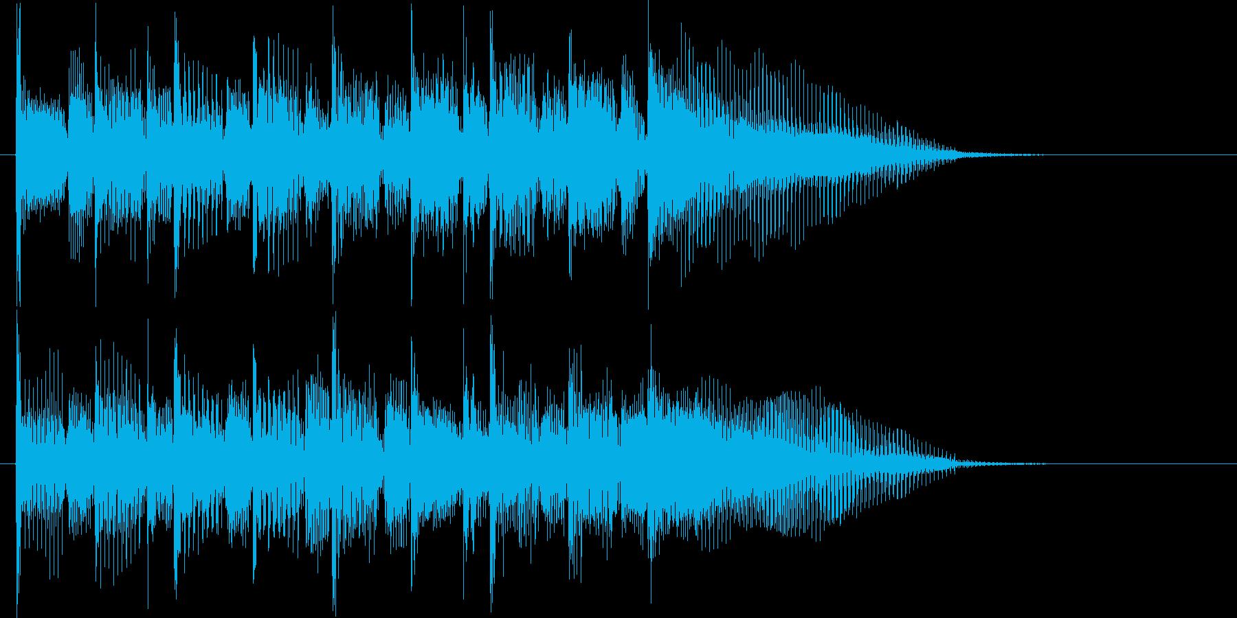 残念なイメージのショートソングの再生済みの波形