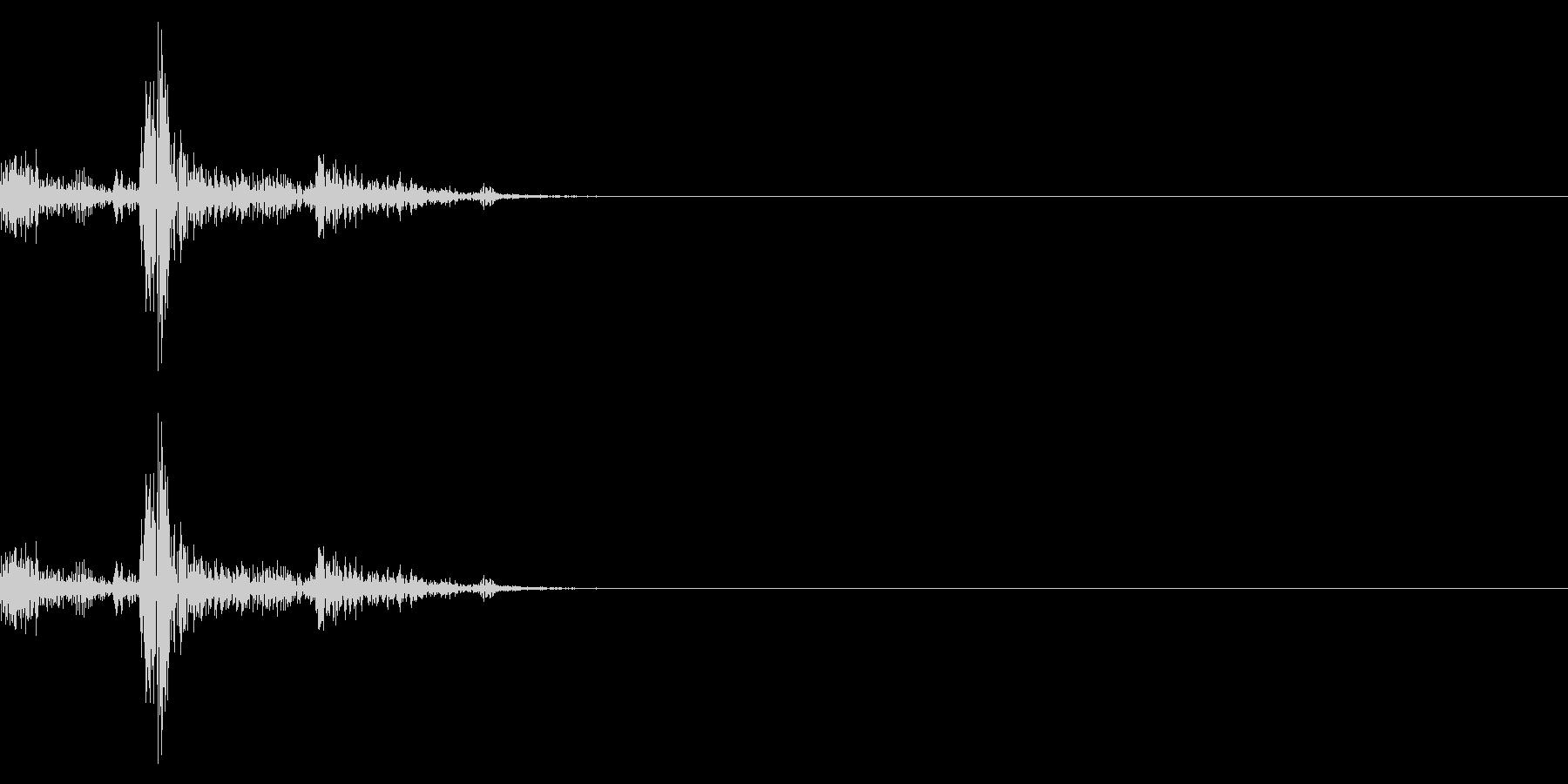 チャッ(シンプルな選択音、キー入力)の未再生の波形