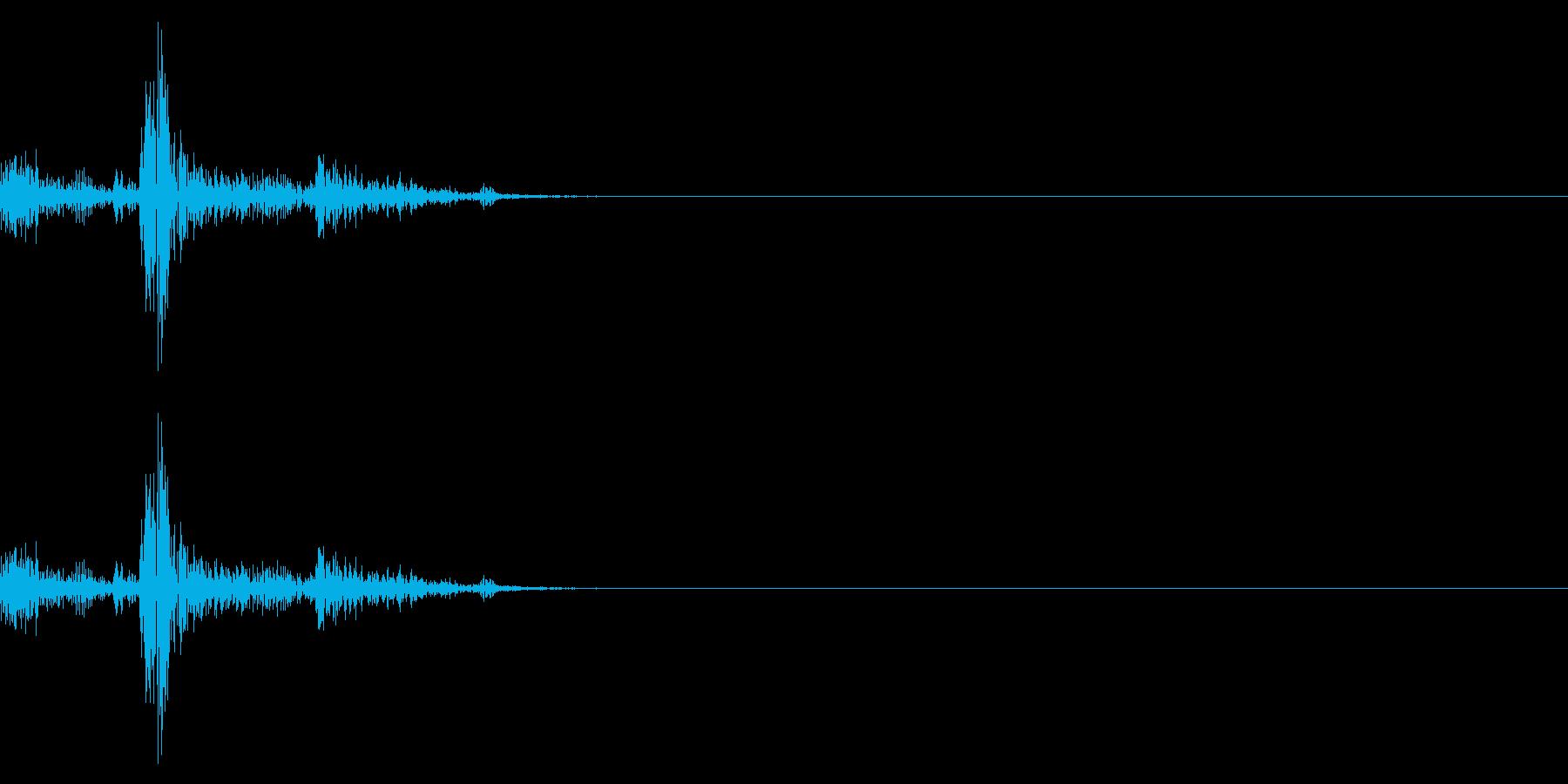 チャッ(シンプルな選択音、キー入力)の再生済みの波形
