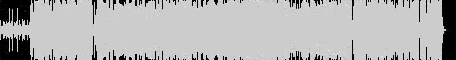 尺八がメインの激しい和風ロックの未再生の波形