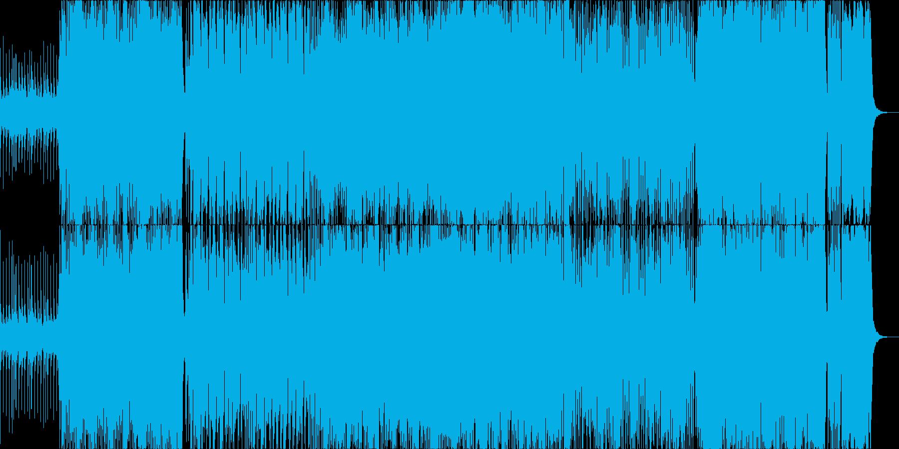 尺八がメインの激しい和風ロックの再生済みの波形