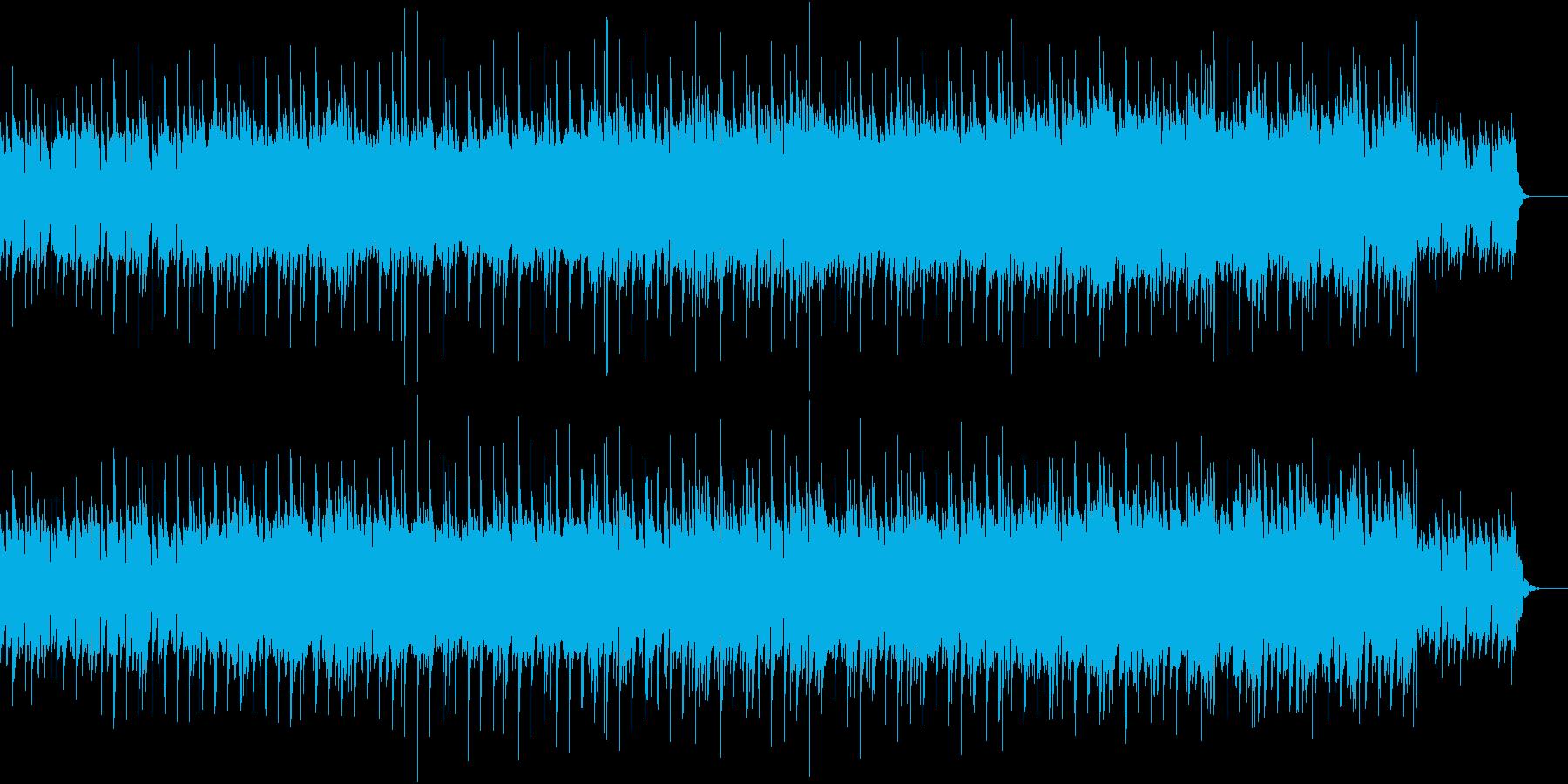 ギターとピアノが切ない旋律を奏でるBGMの再生済みの波形