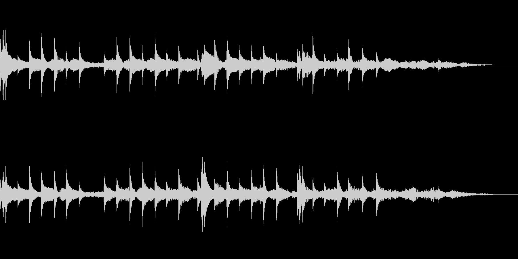きらキラするジングル風BGMの未再生の波形
