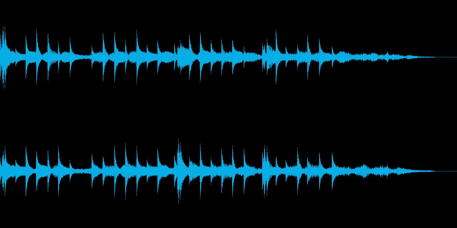 きらキラするジングル風BGMの再生済みの波形