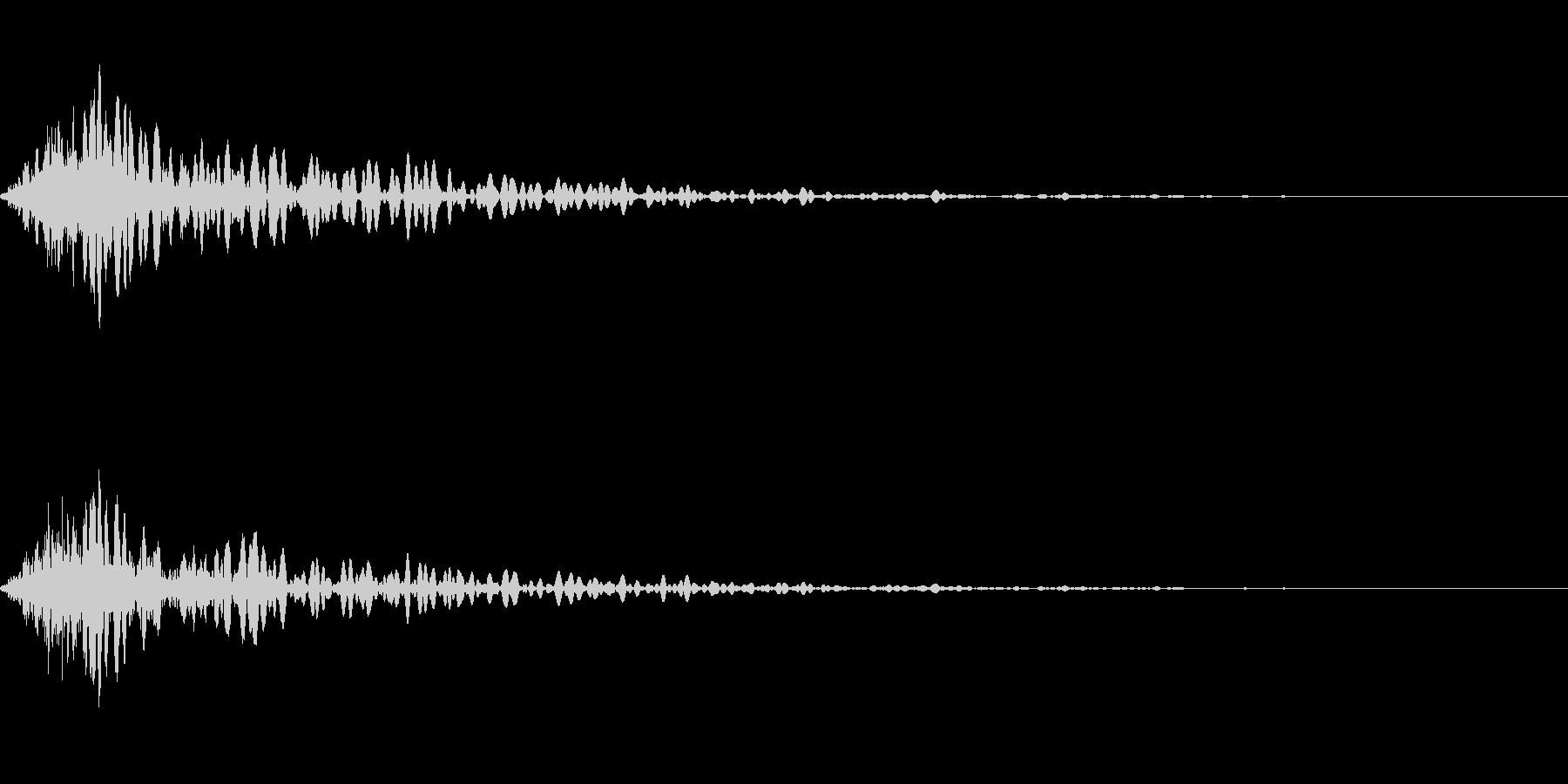 カットイン演出に使えるSE_その4の未再生の波形
