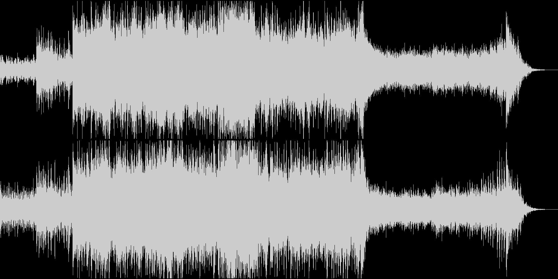 ドラマチック/シネマティックオープニングの未再生の波形