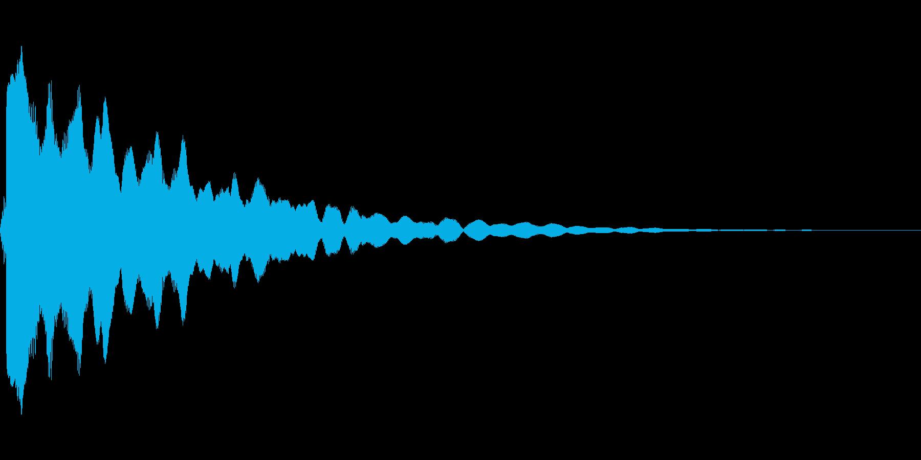 ピィィン(光などのきらめき音)の再生済みの波形