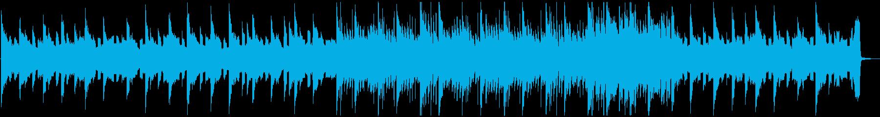 悲しいテクノ系ピアノバラードの再生済みの波形
