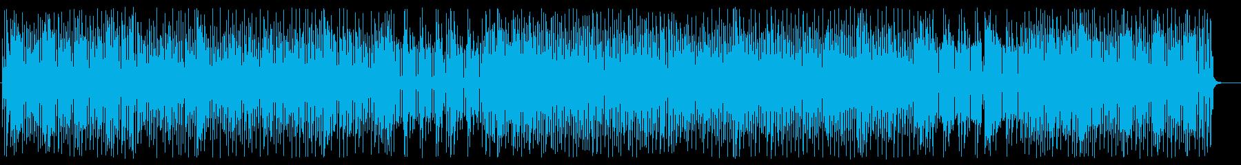 楽しげなシンセサイザードラムポップの再生済みの波形