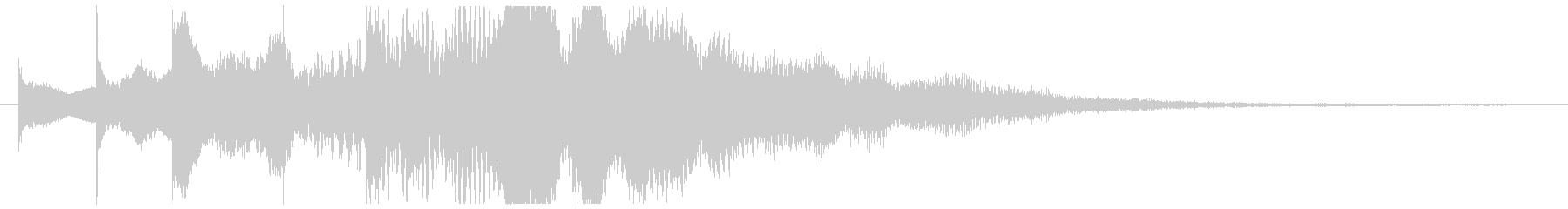 パッドとトイピアノ系の広がりあるSEの未再生の波形