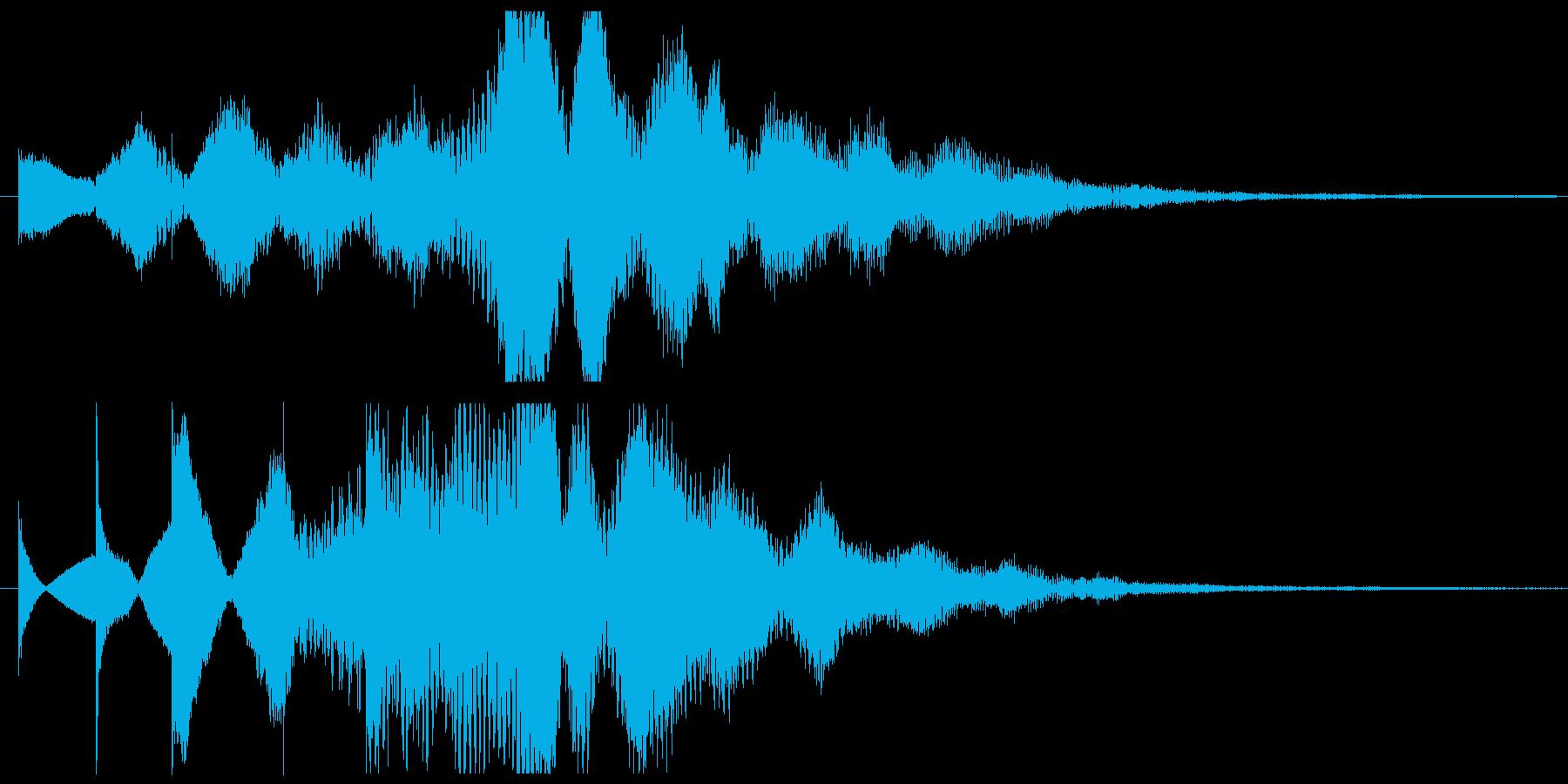 パッドとトイピアノ系の広がりあるSEの再生済みの波形