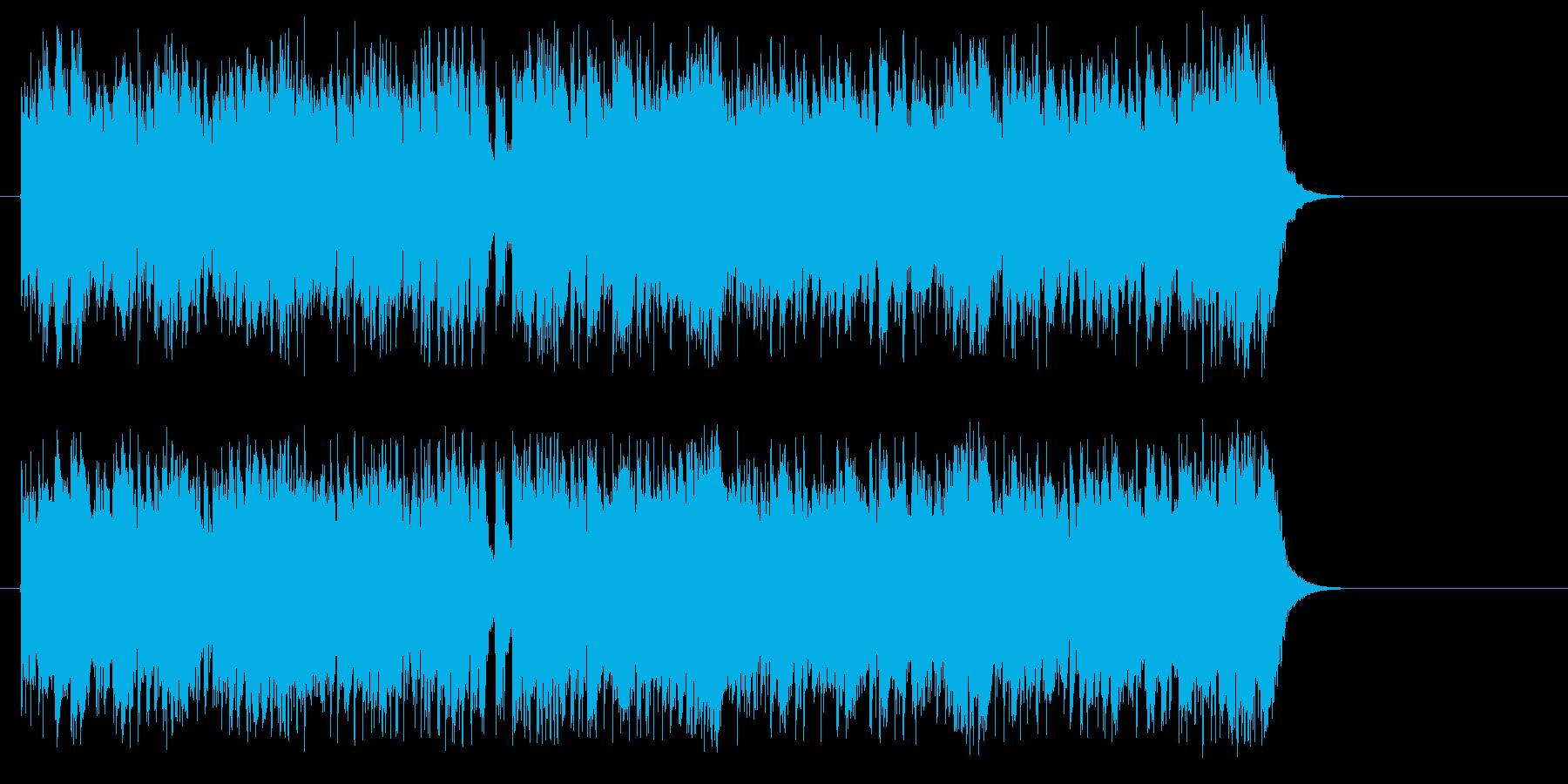 """さわやかな""""ガッツ""""スポーティサウンドの再生済みの波形"""