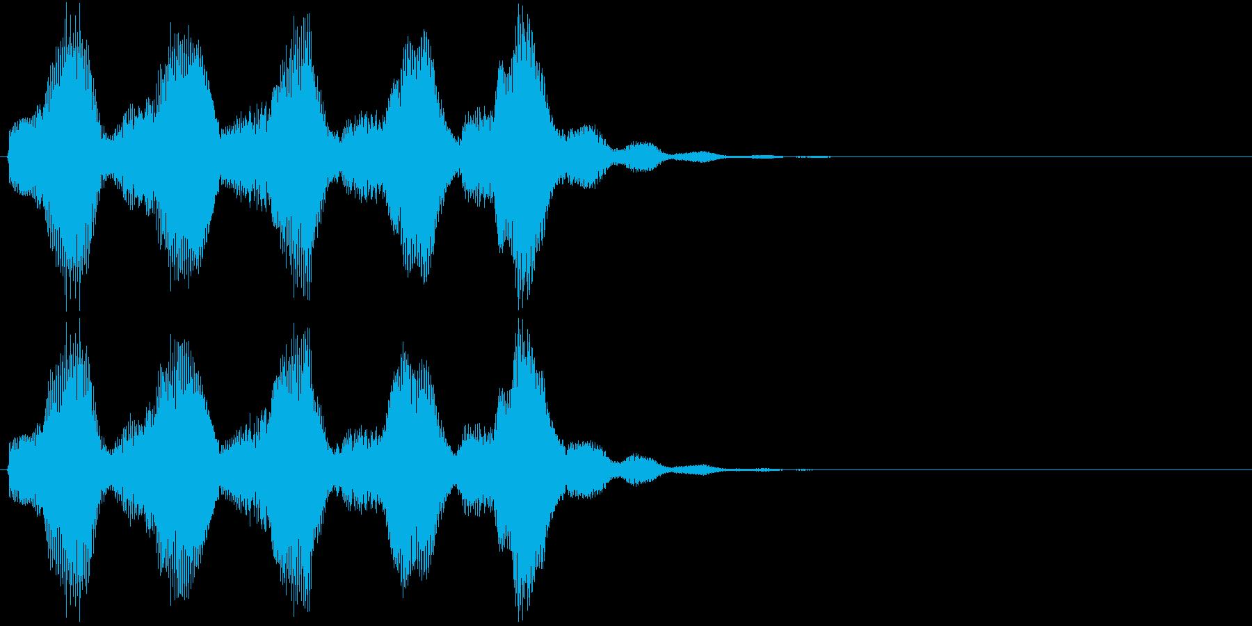プァンプァン..。不正解・残念・失敗Cの再生済みの波形