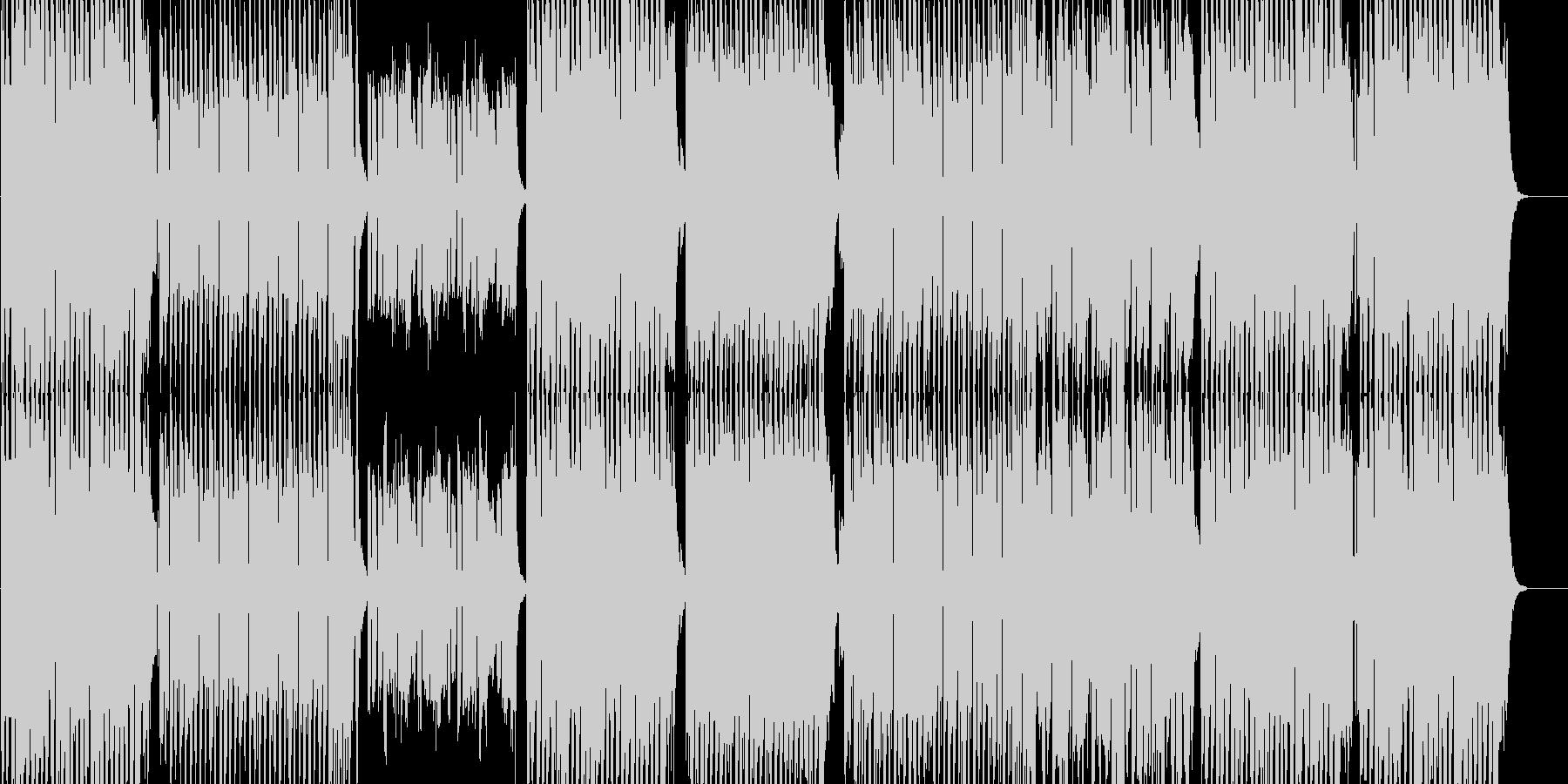 ポップなEDM系インスト曲の未再生の波形