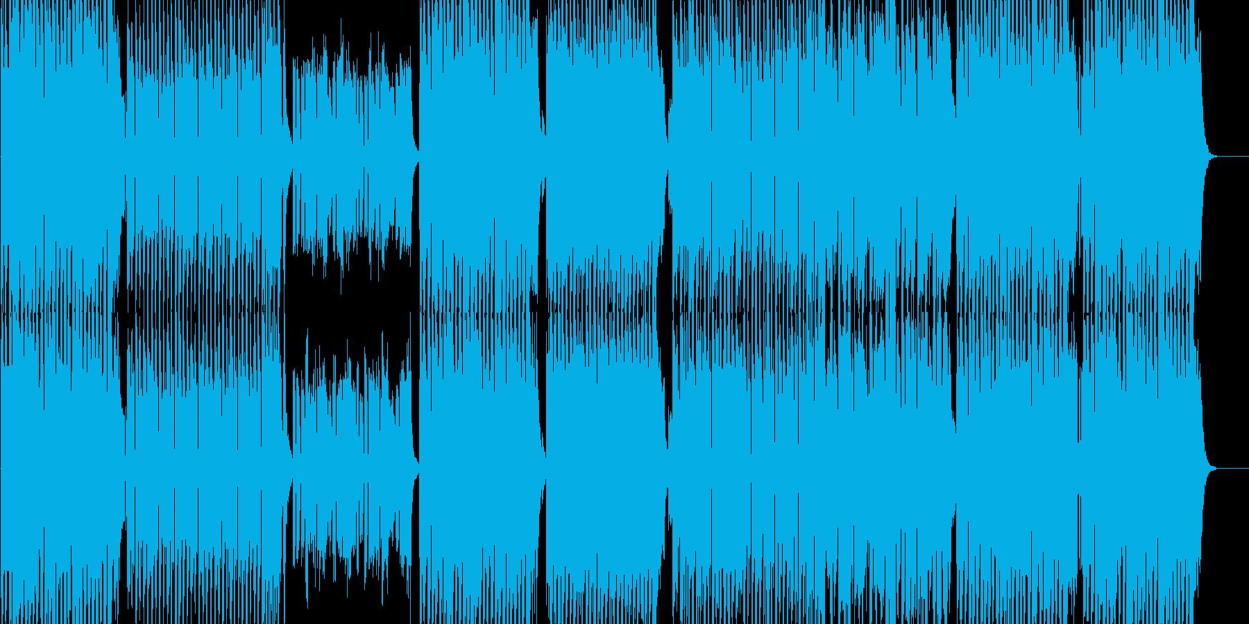 ポップなEDM系インスト曲の再生済みの波形