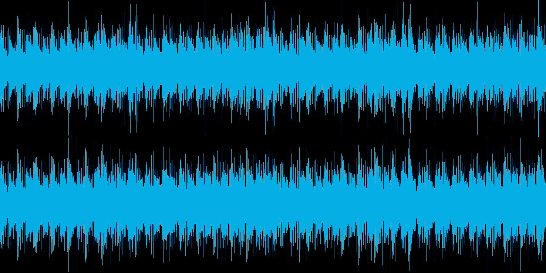 浮遊感・落ち着いたエレピ&リズム。ループの再生済みの波形