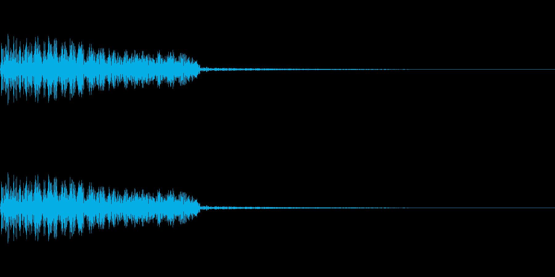 パンチ・キック時の打撃音の再生済みの波形