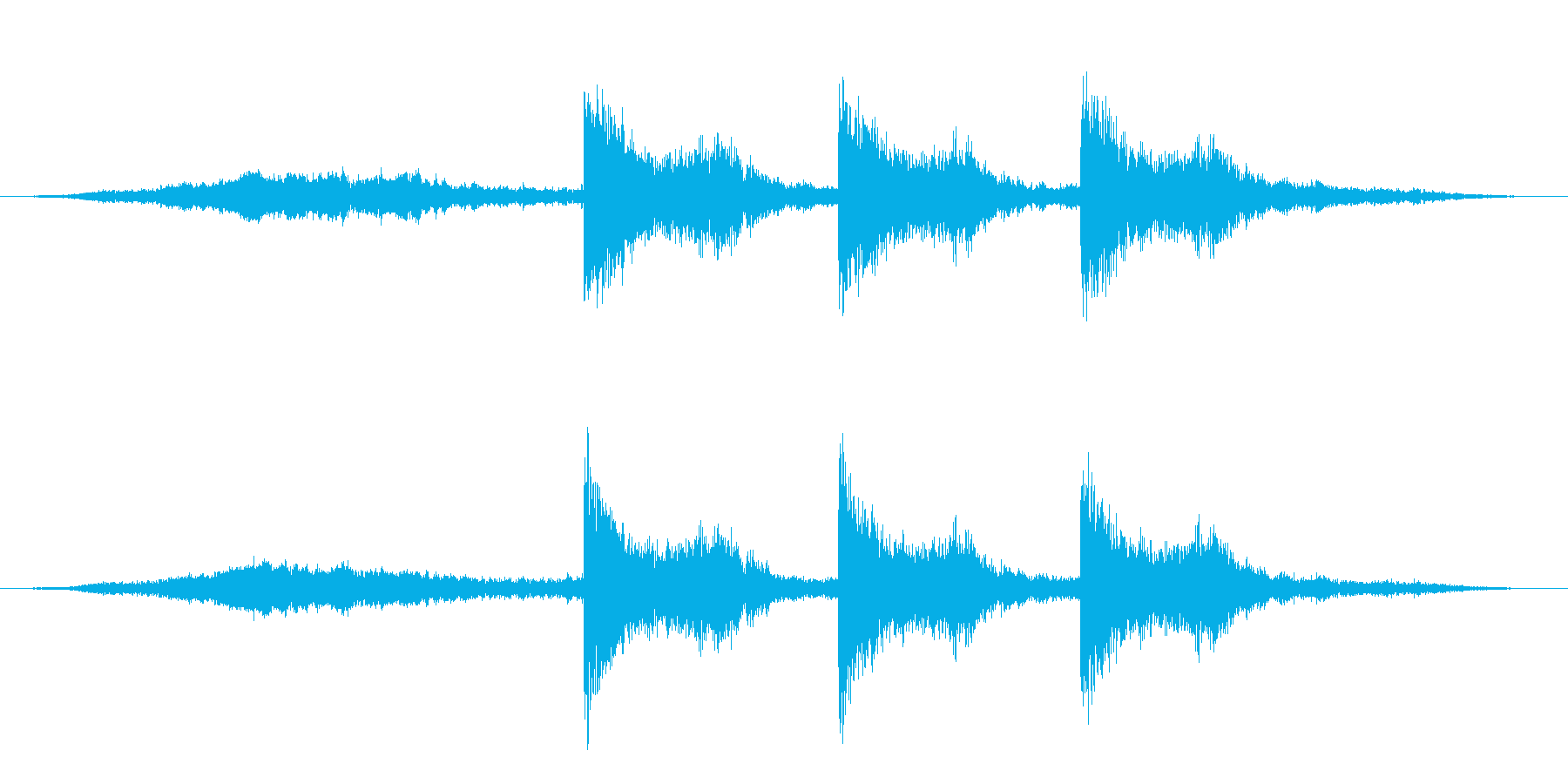 ホラー向き楽曲。何かが起こる前兆のよう…の再生済みの波形