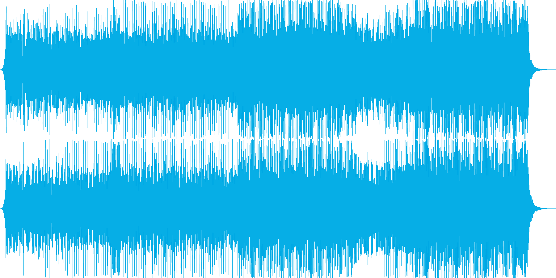 EDM系ダンスミュージック,夏フェスの再生済みの波形