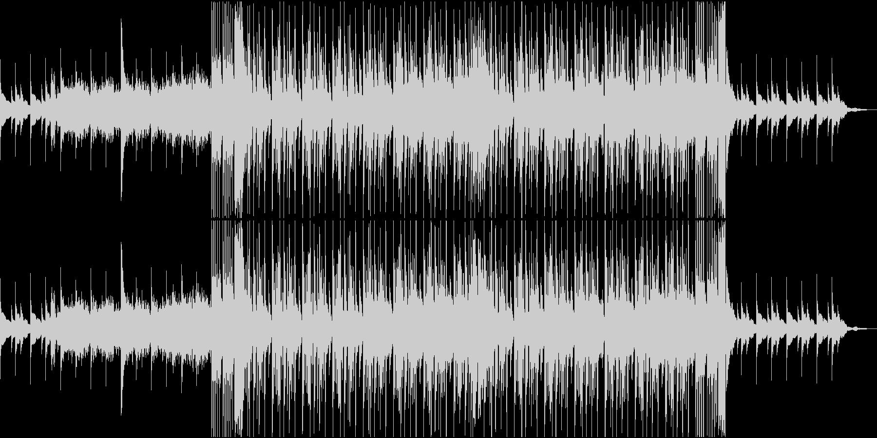 何度も始まる希望感のあるメロディーの未再生の波形