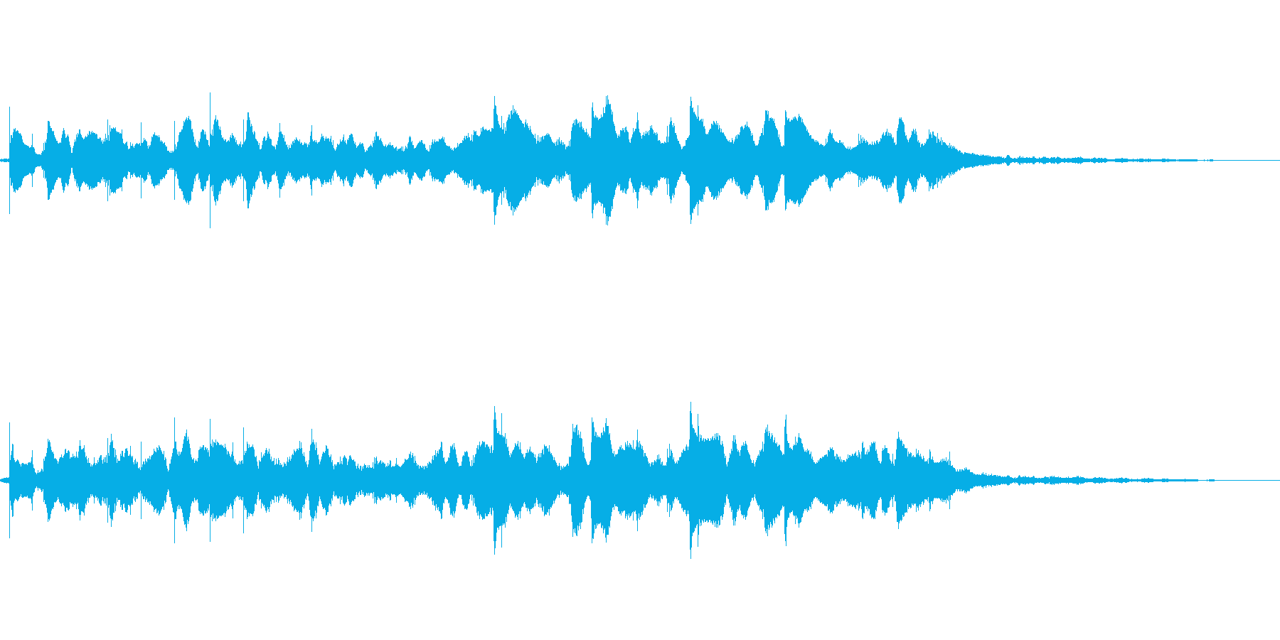 キラキラとしたBGMの再生済みの波形