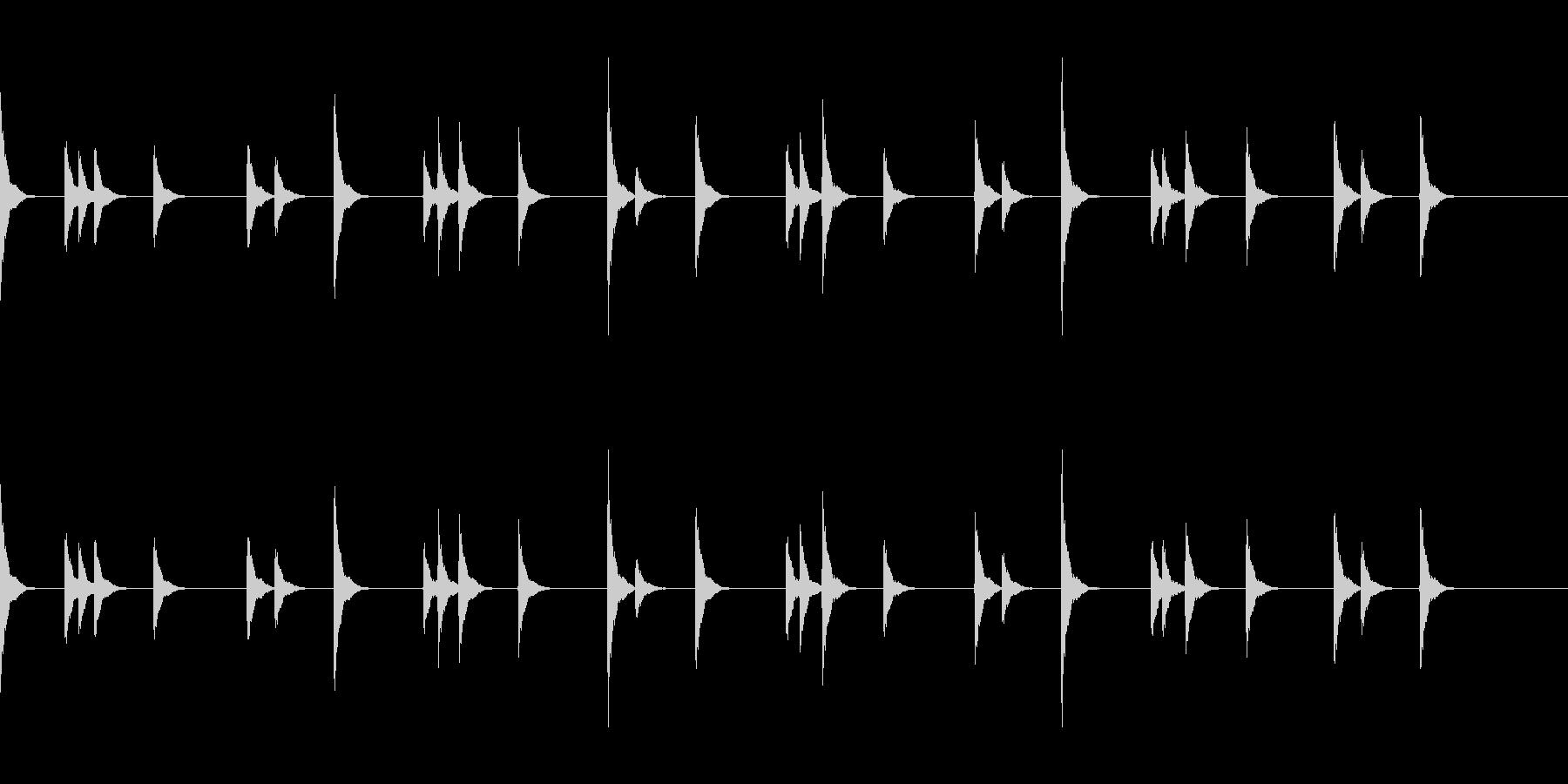 音侍SE お囃子祭りの当たり鉦のループ音の未再生の波形