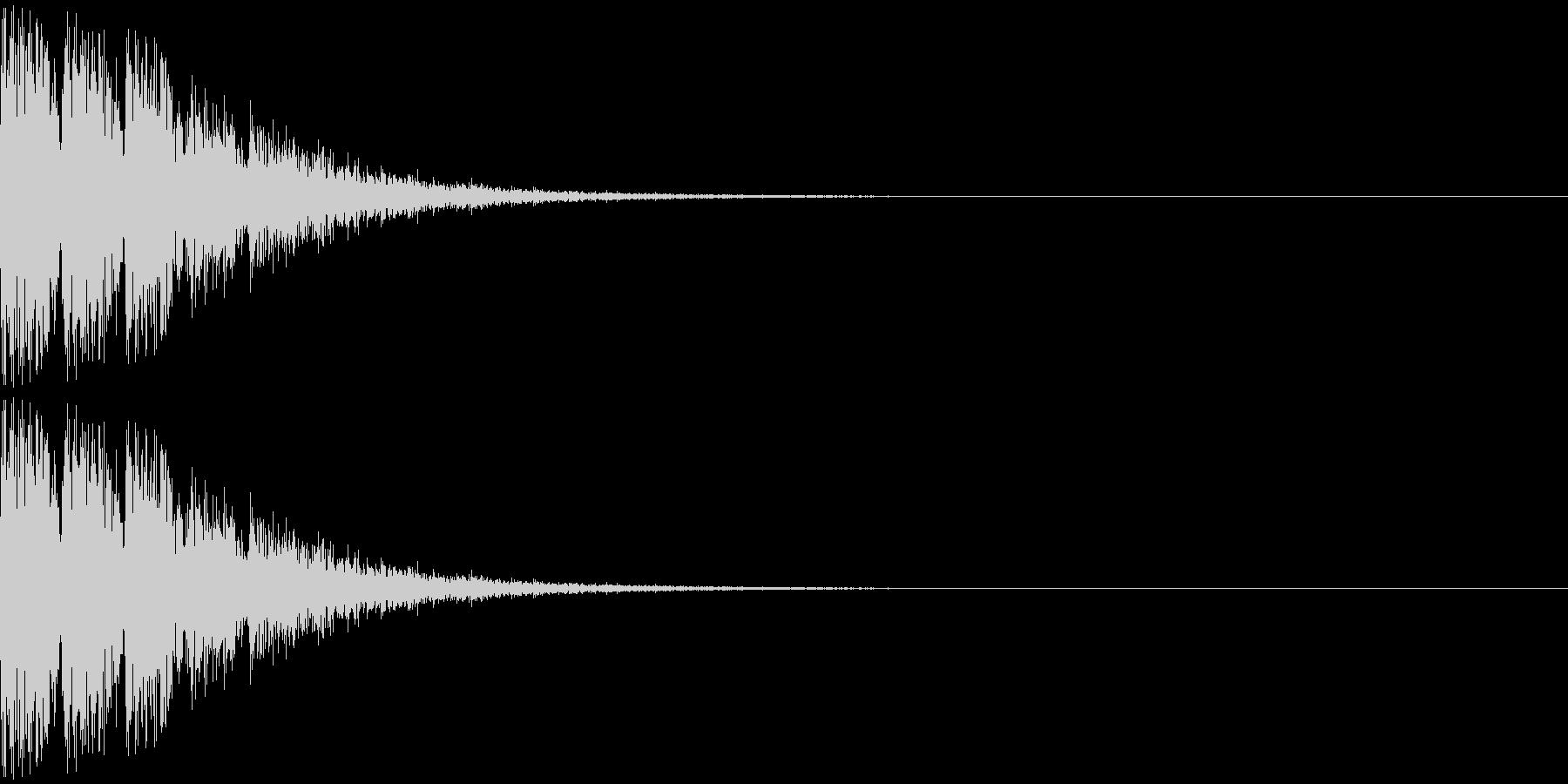 トゥントゥントゥン・・・(上がり系)の未再生の波形