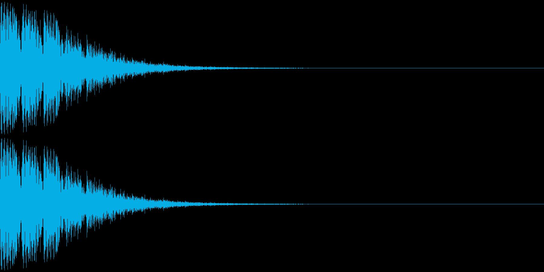 トゥントゥントゥン・・・(上がり系)の再生済みの波形